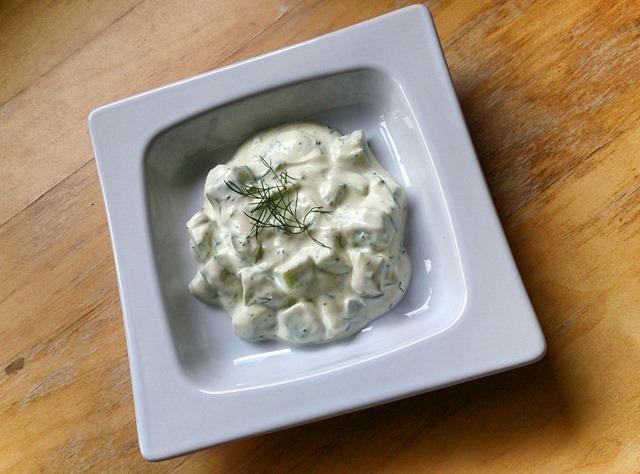 Pepino con yogur